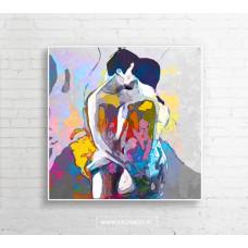 """Obraz na płótnie  """"Dancers"""" 100x100cm"""