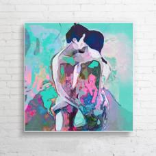 "Obraz na płótnie  ""Dancers II"" 90x90 cm"