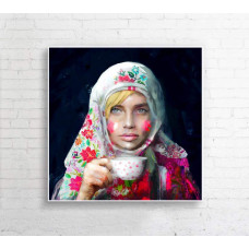 "Obraz na płótnie  ""Matrioszka"" 90x90cm"