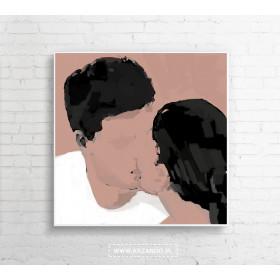 """Obraz na płótnie """"Mua"""" 100x100 cm"""