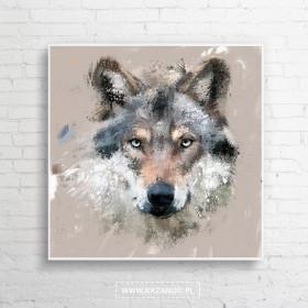 "Obraz na płótnie ""Wilk"" 100x100 cm"