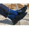 Niebieskie Skarpetki męskie w żółte Sznurówki 2