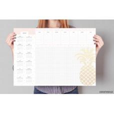 """Duża podkładka na biurko z kalendarzem """"Ananas"""""""
