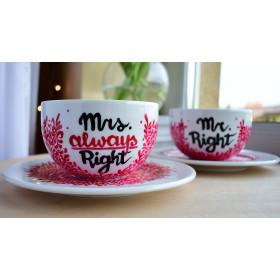 Filiżanki dla dwojga Mrs. & Mr. Right