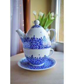 Zestaw do herbaty ręcznie malowany