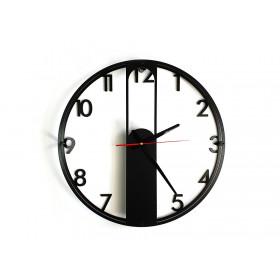 TIK TAK:  loftowy zegar EVRA digits, duży 46cm CZARNY