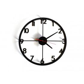 TIK TAK:  loftowy zegar MONO digits, duży 46cm CZARNY