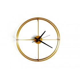 TIK TAK:  loftowy zegar MONO light, 46cm ZŁOTY