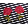 Zestaw naszywek Czerwone Róże - Lustrzane Odbicie 3