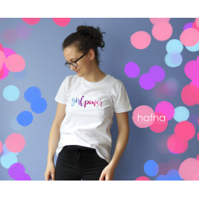 Koszulka z haftem Girl Power