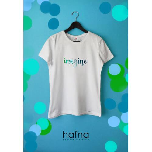 Koszulka z haftem Imagine
