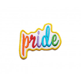 Naszywka Napis Pride