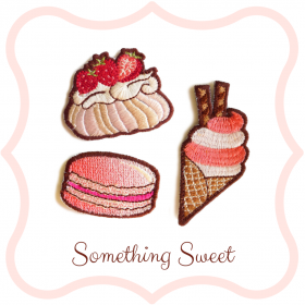 Zestaw naszywek Something Sweet
