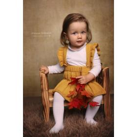 Spódniczka-Ogrodniczka Musztarda Merynos Dziecięca