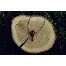 Drewniany wisiorek redheart + klon kanadyjski