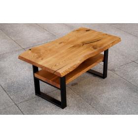 Stolik kawowy z drewna Dąb industrialny Loft Live Edge