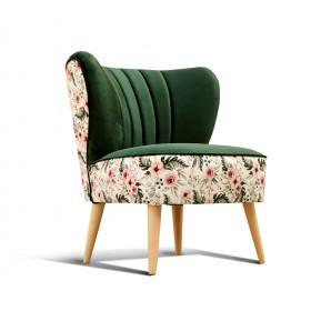 fotel klubowy, uszak, koktajlowy, lata 50 60   zielony