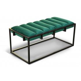Ławka tapicerowana loft industrialna siedzisko pufa otoman