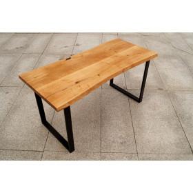 Stół jadalniany z drewna Dąb industrialny Loft Live Edge