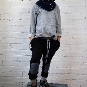 Spodnie typu jogger BLACK
