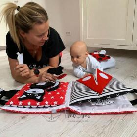 TimoSimo Książeczka sensoryczna dla niemowlaka 0+