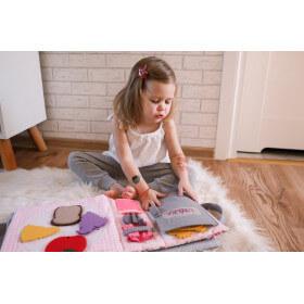 TimoSimo Książeczka sensoryczna dla dziewczynki 3+