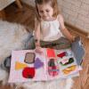 TimoSimo Książeczka sensoryczna dla dziewczynki 3+ 6