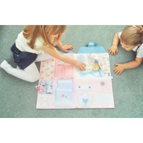 Książeczka Sensoryczna -mata Domek dla lalki