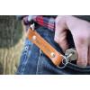 Skórzany brelok na klucze z karabinkiem - góry 4