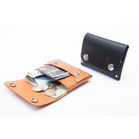 Skórzany portfel na karty, monety i dowód rejestracyjny - napy
