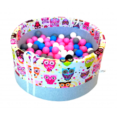 Suchy basen 90x40cm z piłkami 250 szt - grube dno 4 cm