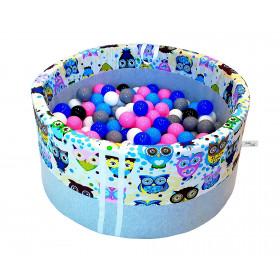 Suchy basen 90x40cm z piłkami 250 szt  - grube dno 4 cm  -