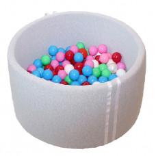 Suchy basen 90x40cm z piłkami 250 szt  - grube dno 4 cm - melanż