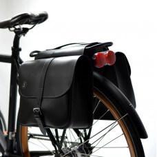 SAKWY ROWEROWE - skóra, skórzane sakwy rowerowe -handmade
