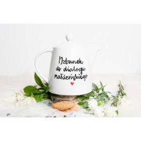 Porcelanowy Dzbanek  1,1L -  Dzbanek do dialogu małżeńskiego