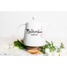 Porcelanowy Dzbanek  1,1L -  Małżeństwo idealne