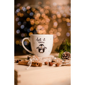 Porcelanowy Kubek  300 ml -  Let it snow
