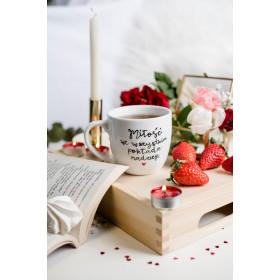 Porcelanowy Kubek  300 ml -  Miłość we wszystkim pokłada nadzieję