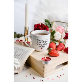 Porcelanowy Kubek  300 ml -  Miłość wszystko znosi