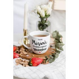 Porcelanowy Kubek  300 ml -  Taki misiak to największe szczęście