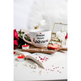 Porcelanowy Kubek 500 ml  - Miłego dnia kochanie