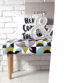 Ale ławeczka LOTUS ławka siedzisko do przedpokoju wzorzyste tapicerowane