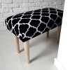 Ale ławeczka KONICZYNA czarna ławka siedzisko do przedpokoju wzorzyste tapicerowane 3
