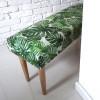 Ale ławeczka MONSTERA ławka siedzisko do przedpokoju wzorzyste tapicerowane 3