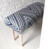 Ale ławeczka BARCELONA ławka siedzisko do przedpokoju wzorzyste tapicerowane 3