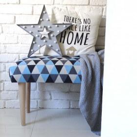 Ale Ławeczka TRÓJKĄTY gładka ławka siedzisko do przedpokoju  tapicerowane