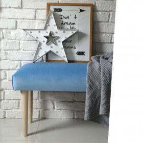 Ale Ławeczka PASTELOWA gładka ławka siedzisko do przedpokoju  tapicerowane