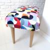 Ale ławeczka LOTUS ławka siedzisko do przedpokoju wzorzyste tapicerowane 3