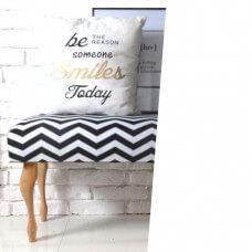 Zamówienie - Ławeczka z tkaniny przesłanej przez Klienta