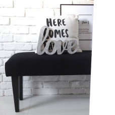 Ale ławeczka CZARNA gładka ławka siedzisko do przedpokoju  tapicerowane